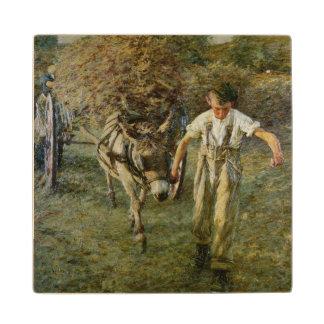 Haywain、c.1889 (キャンバスの油) ウッドコースター