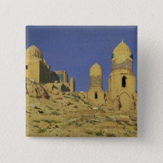 Hazreti Shakh-i-Zindehのマウソレウム 5.1cm 正方形バッジ