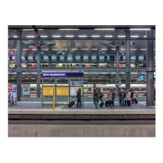 Hbfの場所、ベルリン、ドイツ 葉書き