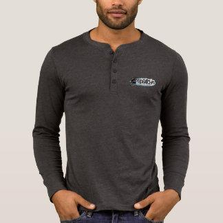HDBitchinのロゴのキャンバスのHenleyの長袖のワイシャツ Tシャツ
