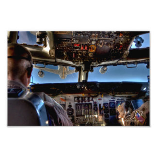 HDRに燃料を補給するE-3 AWACSの空気 フォトプリント