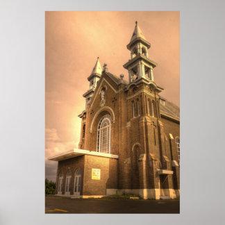 HDR - Charloのカトリック教会 ポスター