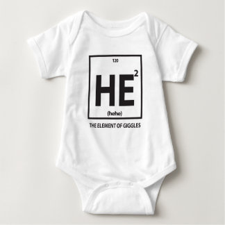 HE2 (hehe) -くすくす笑いの要素 ベビーボディスーツ