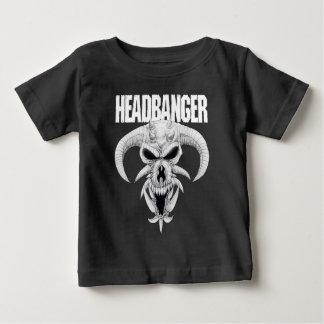 Headbangerのスカル ベビーTシャツ