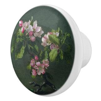 Heade Appleの花によってはノブを絵を描く葉が開花します セラミックノブ