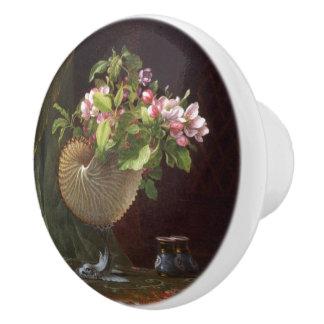 Heade Appleの花によっては貝の絵画のノブが開花します セラミックノブ