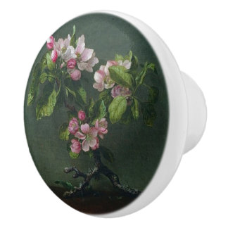 Heade Appleの花の花の小枝のノブ セラミックノブ