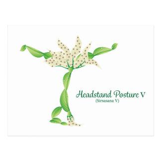 (Headstandの姿勢V)の郵便はがき ポストカード