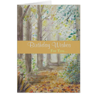Healing Forest Birthday Greeting カード