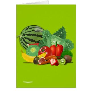 healthy_Vector_Clipartのフルーツの野菜園芸 カード