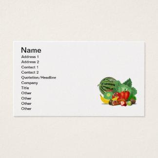 healthy_Vector_Clipartのフルーツの野菜園芸 名刺