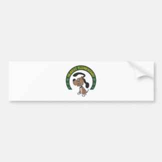 Hearstの基本的なクラシックな猟犬のロゴ バンパーステッカー