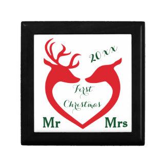 Heart Deer初めてのクリスマス結婚したな氏および夫人 ギフトボックス