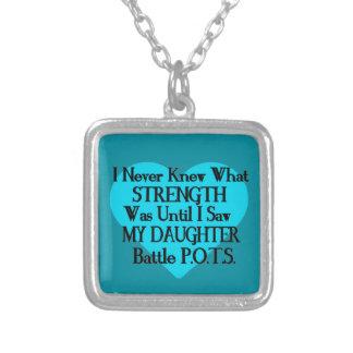 Heart/Iは決して…娘… P.O.T.S.を知っていませんでした シルバープレートネックレス