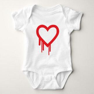 Heartbleedの虫のTシャツ ベビーボディスーツ
