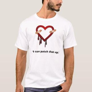 Heartbleedの虫パッチのワイシャツ Tシャツ