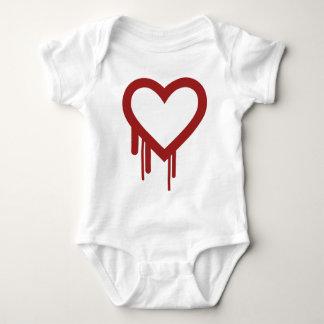 Heartbleed -高品質なロゴ ベビーボディスーツ