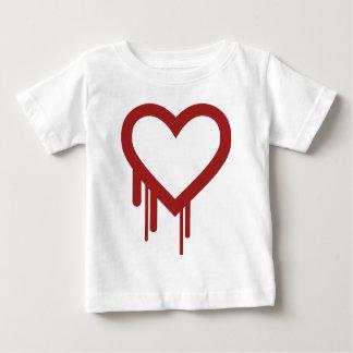 Heartbleed -高品質なロゴ ベビーTシャツ