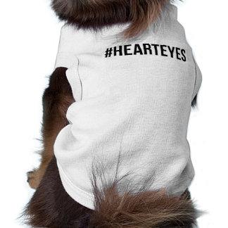 """""""#hearteyes""""犬のワイシャツ ペット服"""