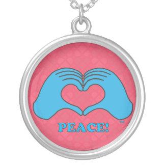 HeartMarkのハート手の平和 シルバープレートネックレス