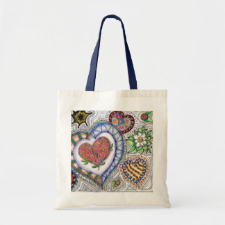 Hearts & Flowers Tote Bag トートバッグ