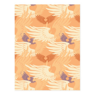 Heartwingsのカムフラージュのブランク(モモかベージュ色またはラベンダー) ポストカード