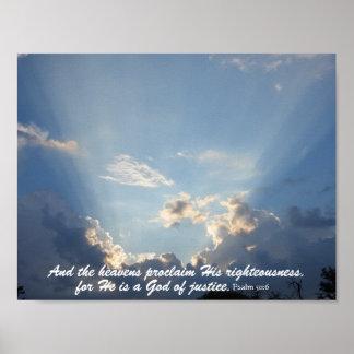 Heavansは神の栄光を宣言します ポスター