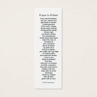 Hecate (Hekate)の祈りの言葉カード スキニー名刺
