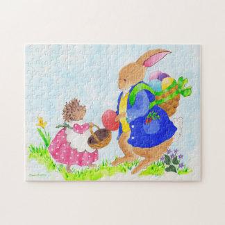 Heddyのイースターのウサギおよびハリネズミ ジグソーパズル