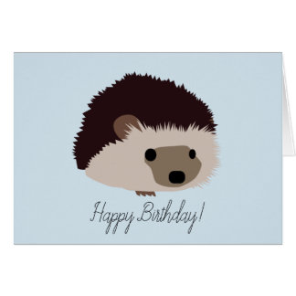 Hedgehog Happy Birthday Card カード