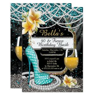 Heels and Drinks Ladies Birthday Invitations 12.7 X 17.8 インビテーションカード