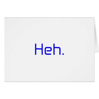 Heh。 黒い灰色の青い白 カード