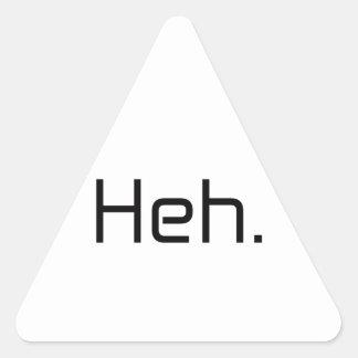 Heh。 黒い灰色の青い白 三角形シール
