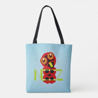 Hei TikiのマオリのデザインNZ Typogrpahic トートバッグ