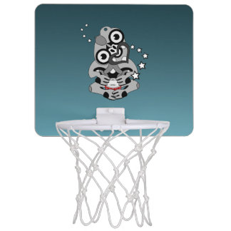 Hei Tikiニュージーランドのドラムマオリのデザイン ミニバスケットボールゴール