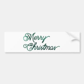 heim&loreのメリークリスマスの常緑樹 バンパーステッカー