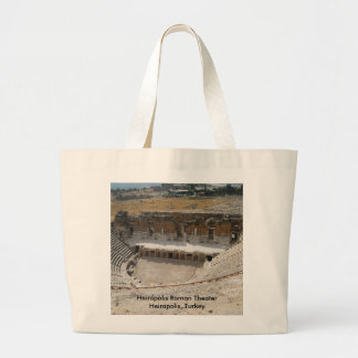 Heirapolisのローマの劇場 ラージトートバッグ