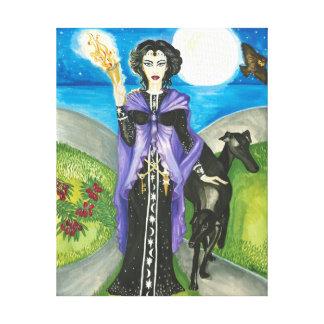 Hekate、魔法使いのあるギリシャの女王 キャンバスプリント