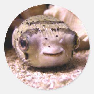 HelaineのフグのPufferfish ラウンドシール