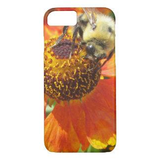 Heleniumの蜂のオレンジの花 iPhone 8/7ケース
