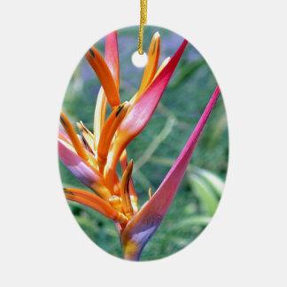 Heliconiaの高められた花 セラミックオーナメント