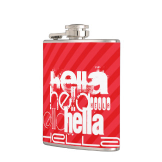 Hella; 深紅の赤のストライプ フラスク