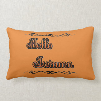 "Hello Autumn Lumbar Pillow 13"" x 21"" ランバークッション"