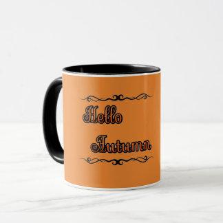 Hello Autumn Mug マグカップ