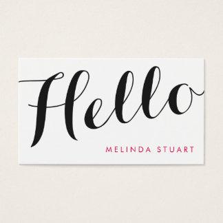 Hello|Black&Pinkのエレガントなタイポグラフィのメーキャップアーティスト 名刺