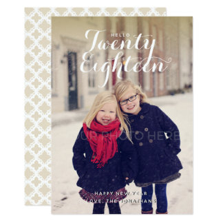 Hello Twenty Eighteen New Year Photo Card カード