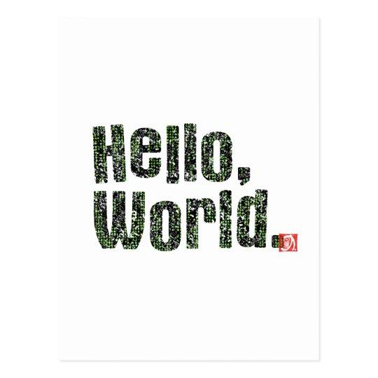 Hello, World. ポストカード