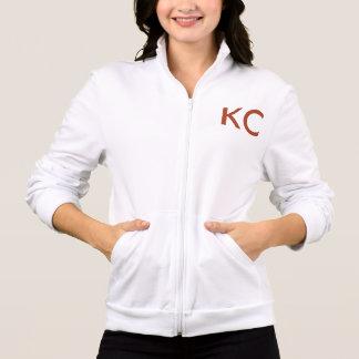 HelloKcのフリースのジャケット(白の-赤い手紙だけ)