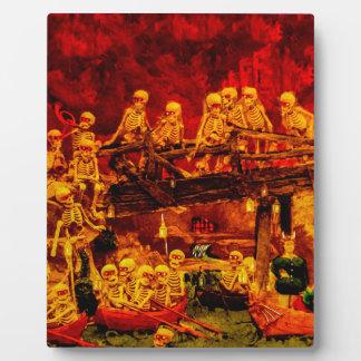 Hellsvilleの骨組ヴィンテージの恐怖の恐怖地獄 フォトプラーク