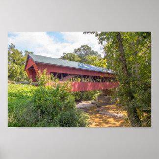 Helmick Mill (Island Run) Covered Bridge, Ohio ポスター